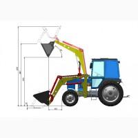 Погрузчик фронтальный Robocop-1.2 ( ПФ, ПКУ ) для МТЗ